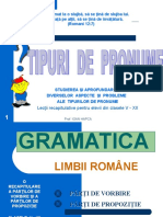 TIPURILE DE  PRONUME