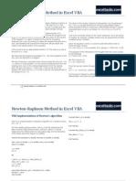 Newton-Raphson Method in Excel VBA
