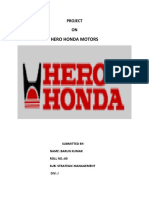 report on hero honda