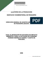 Guía de Elaboración de EIAsd para la Actividad de Consumo Indirecto Harina y Aceite de Pescado (DIGAAP-PRODUCE, 2008)