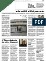 Università, aule fruibili al 100% / Sostegno psicologico agli studenti - Il Resto del Carlino del 13 ottobre 2021