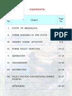 Power Policy of Meghalaya