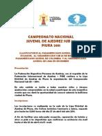 Campeonato Nacional Sub 20 Piura 2011
