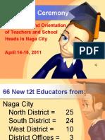 Naga City Transition of Text2Teach