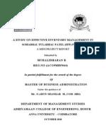A STUDY ON EFFICTIVE INVENTORY MANAGEMENT IN          SOMABHAI  FULABHAI  PATEL - Copy