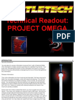 Technical Readout - Project Omega