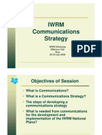 Communications strategy for IWRM