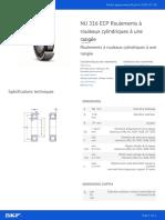 NU 316 ECP Roulements à rouleaux cylindriques à une rangée_20210720