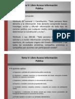 Derecho Administrativo II. Libre Acceso a la Informacion