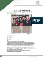 Studenti Uniurb, accordo con Adriabus per tariffe scontate - L'altrogiornale.it, 12 ottobre 2021