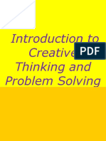 Introduction to Creative Thinking and Problem Solving