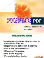 choice of database