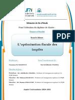 l'Optimisation Fiscale Des Impots ..