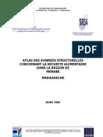 Atlas des données structurelles concernant la  sécurité alimentaire dans la Région du Menabe (SIRSA - 2006)