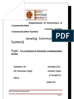 use of internet and electronic communication system1
