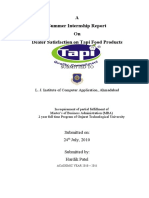 Dealer Satisfaction On Tapi Food Pvt.Ltd (2)