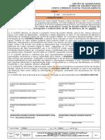 CC018 - Cartão de Assinaturas e Termo Master