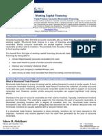WorkingCapitalFinancing