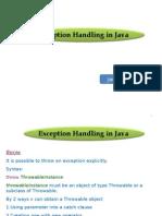 Exception Handling  inJAvA