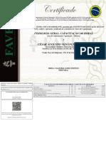 Certificado de Conclusão de Curso - COM FUNDO (Capacitação) - César Augusto Venâncio Da Silva - FISIOLOGIA GERAL- CAPACITAÇÃO 240 HORAS