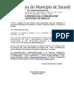 AVISO LICITAÇÃO PREGAO PRESENCIAL 008-2016