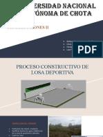 PROCESO CONSTRUCTIVO DE LOSA DEPORTIVA