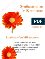 Synthesis of an MIS structure