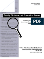 Family Dictionary of Education Terms