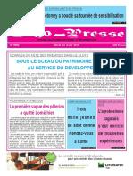Togo Presse du 23 août 2016