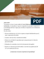 MODULO IV, FORMULACION DE PROGRAMAS Y LA MATRIZ DE MARCO LOGICO