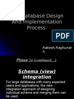 The Database Design And Implementation Process