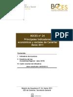 Principales indicadores económicos y sociales de Canarias Marzo 2011
