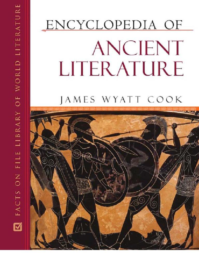 Encyclopedia of ancient literature james wyatt cook fandeluxe Images