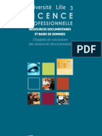 Licence Ressources documentaires et bases de donnees chargé(e) de valorisation des ressources documentaires