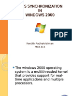WINDOWS 2000 - OS SYNCHRONIZATION