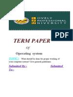 os term paper
