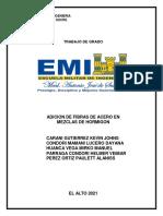 ADICION DE FIBRAS DE ACERO EN MEZCLAS DE HORMIGON