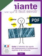 Guide Amiante MENESR 2014
