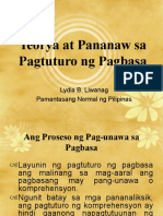 Teorya at Pananaw sa Pagtuturo ng Pagbasa FINAL