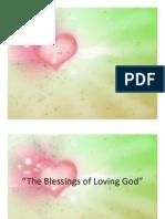 The Blessings of Loving God by Ptr Edwin Villarta