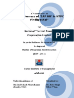 Effectiveness of SAP HR in NTPC Vindhyachal