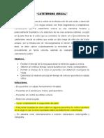 CATETERISMO VESICA resumen expo