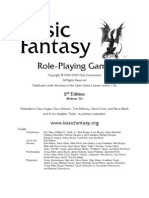 Basic Fantasy RPG Rules