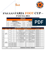 Paulo Faria Foot Cup Quadro Competitivo Final - Infantis