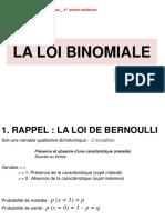 6. La Loi Binomiale