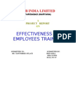 GOODYEAR( EFFCTIVENESS OF EMPLOYEE TRAINING)