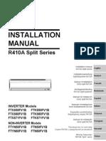 FTXS50FV1B Instalation manual
