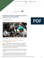 Pandemia, indústria e soberania, escrevem Miguel Torres e Sergio Nobre _ Poder360