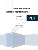 Human Rights and Mental Health Service User Participation
