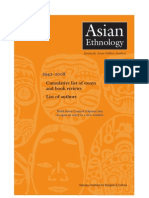 Asian Ethnology_ Cumulative list of Essays _ Book Reviews(AE_hyperlinked)